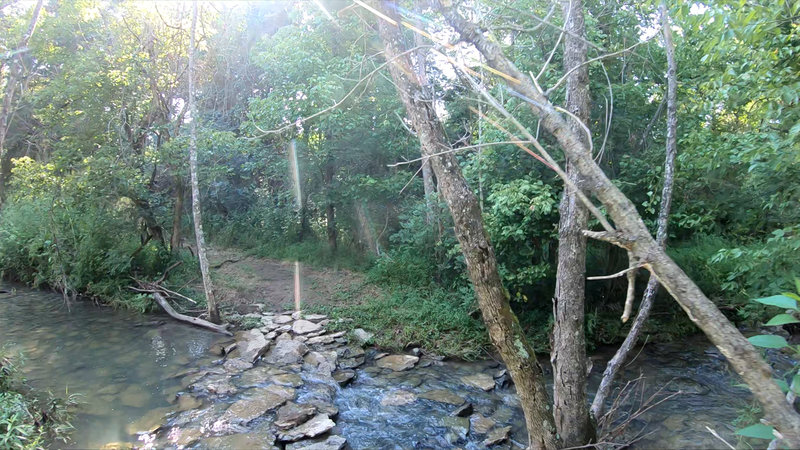One of the creek crossings within the property