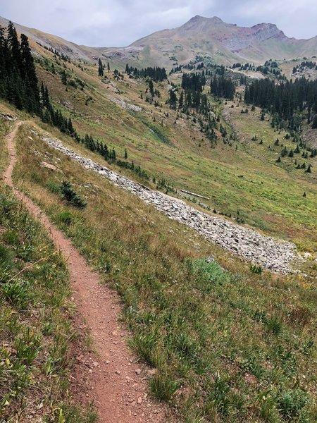 Heading up towards Blackhawk Pass
