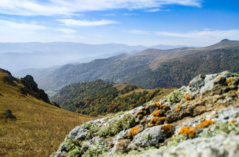 A late summer view above the treeline in the north of Dilijan National Park