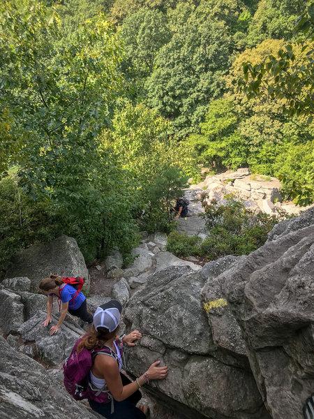 Climbing the scramble