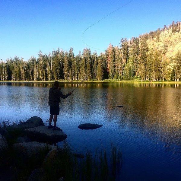 Fly Fishing at Weaver Lake