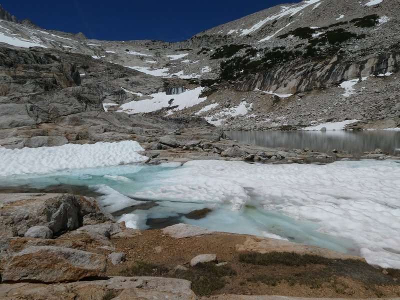 Third of the Conness Lakes.  There is one more a bit higher but snow, ice and time prevented us trying to get there.
