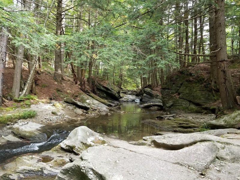 View of Cobb Brook at the top of Hamilton Falls