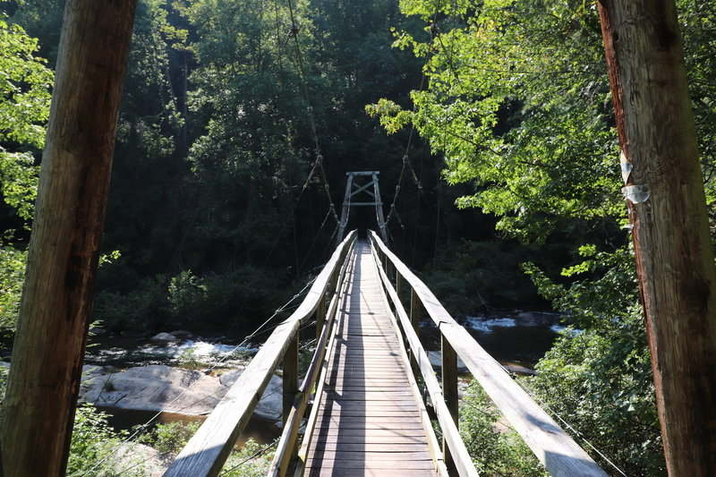 Foothills Trail Bridge over Toxaway River