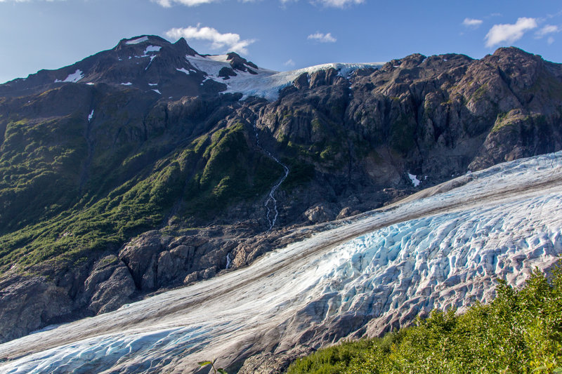 Exit Glacier from Harding Ice Field Trail