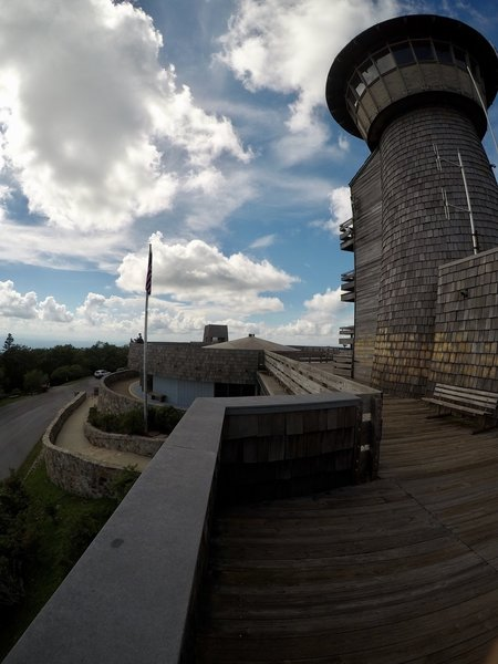 Looking back at the tower and the visitor center.