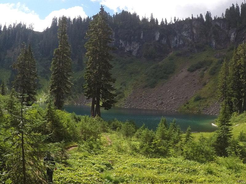 Blue Lake is a gorgeous alpine lake.
