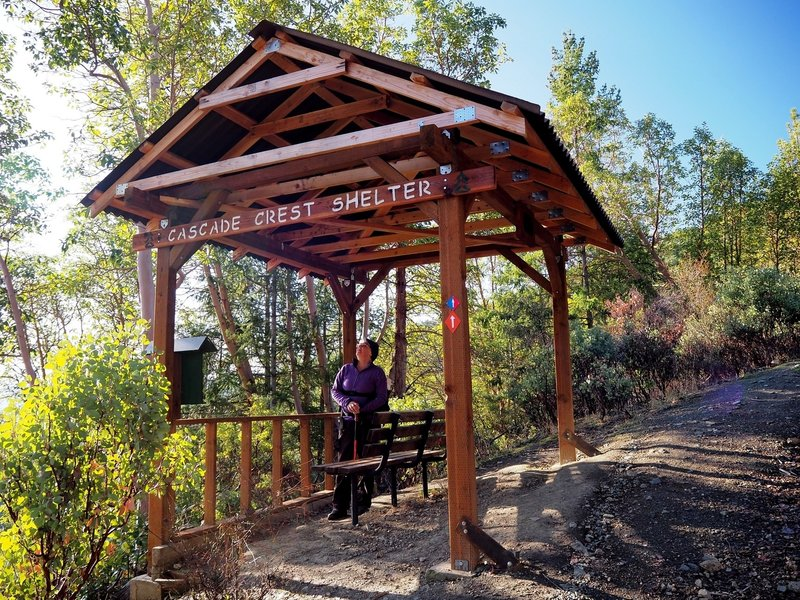 The shelter on the Twin Peaks Trail