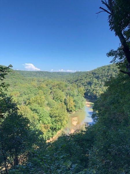 Scenic Overlook of the Green River on the Green River Bluffs Trail in early September
