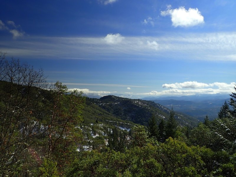 The view from the western end of the Halls of Manzanita Trail