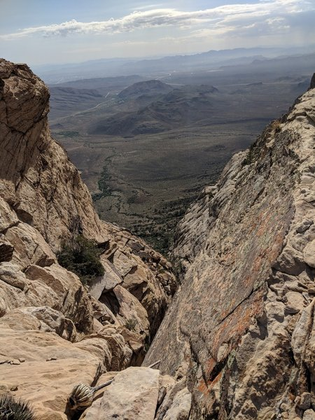 Beautiful views overlooking Red Rock Canyon.
