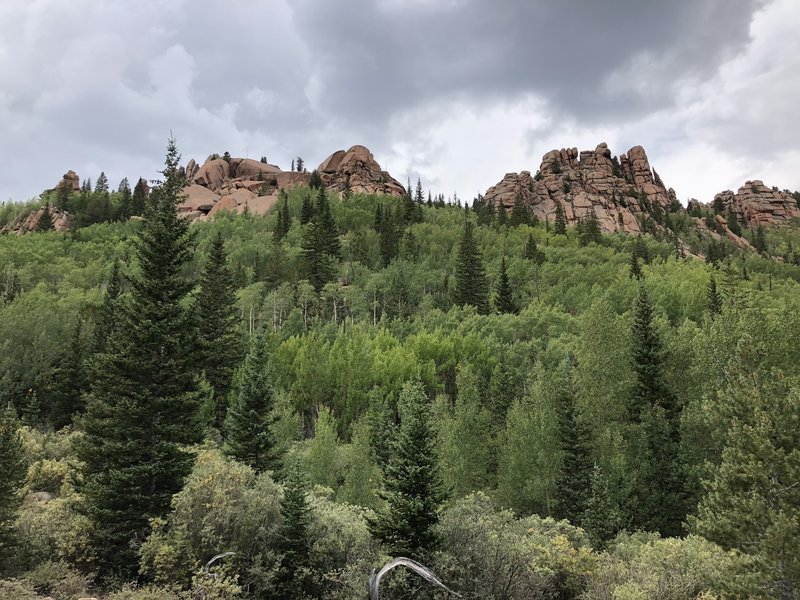 Some of the rock formations in Lost Creek Wilderness