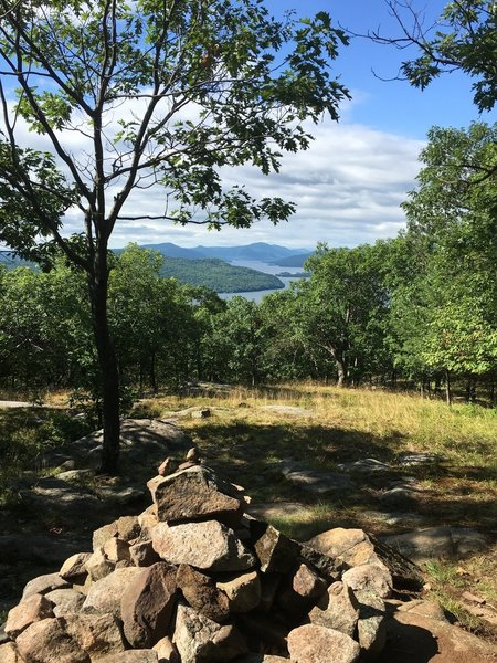 Looking south over Lake George from Cook Mountain