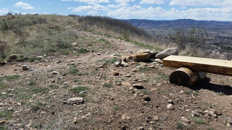 Benches with great views along the trail