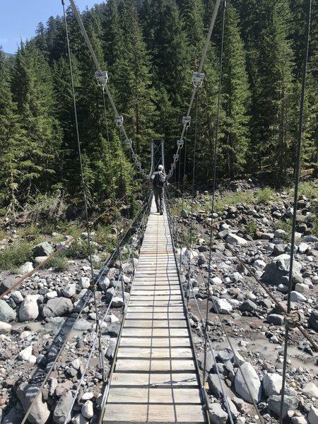 Suspension bridge in Spray Park Loop