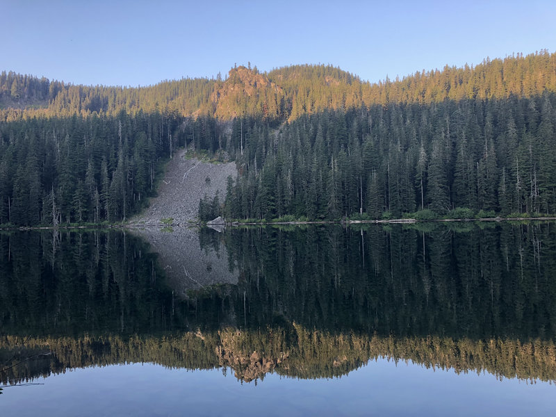 Serene Lake morning reflection