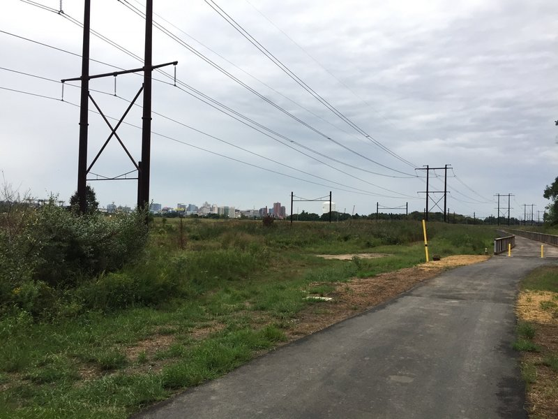 A view of Wilmington from the Jack A. Markell Trail