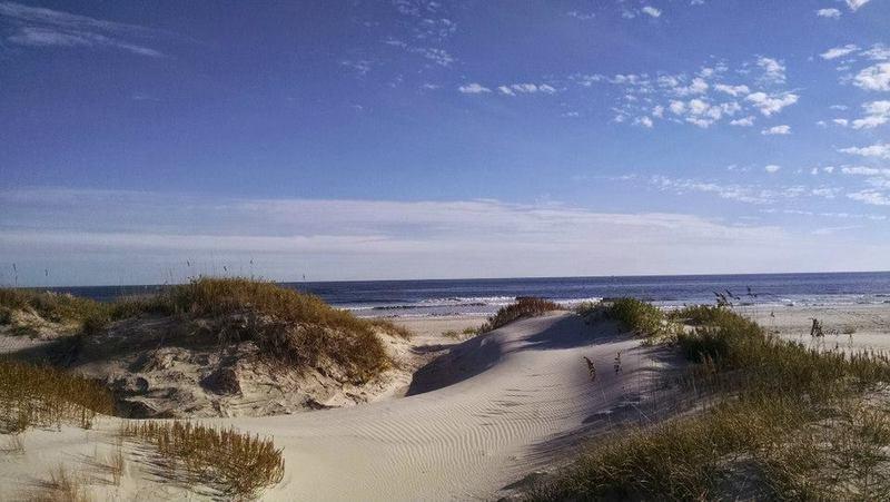 Hammocks Beach State Park, dunes at campsite
