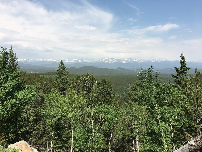 Nice views of the Continental Divide just east of the Panorama Point deck/picnic area.