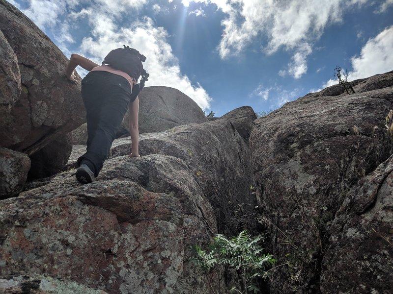 Beginning the initial climb, straight up!