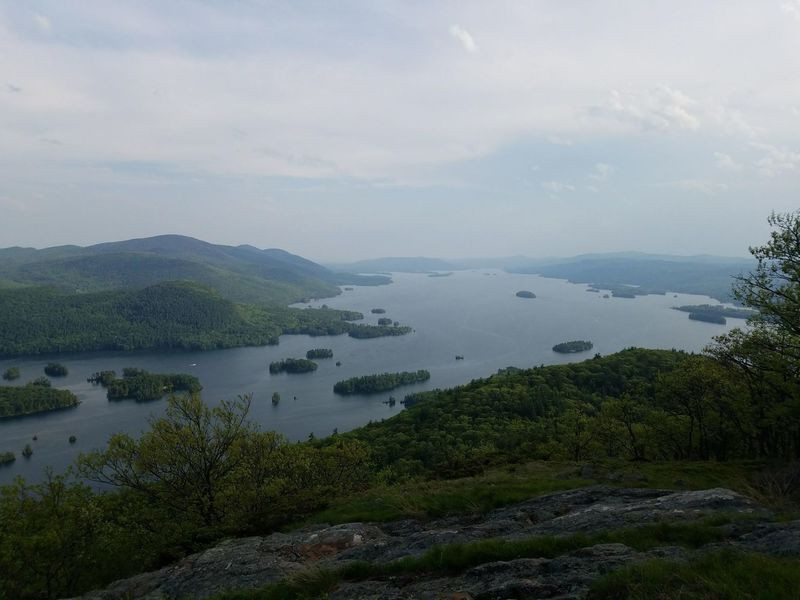 View of Lake George from first peak approx 6.3 miles in counterclockwise.