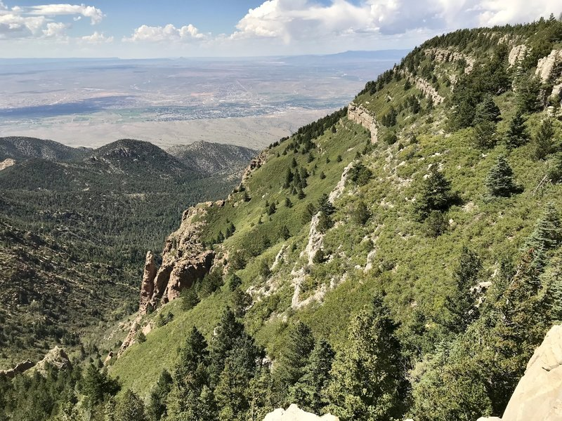 View from the stone bench on South Crest Trail