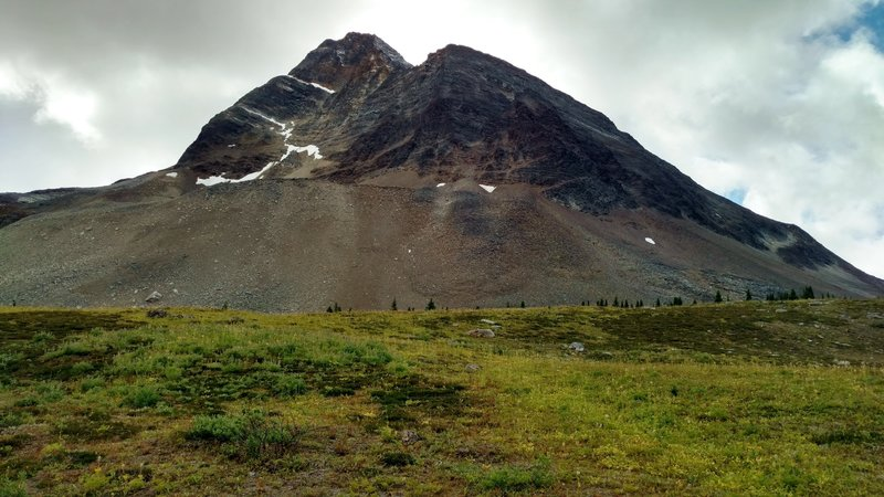 Barren rocky peak that looms over the southwest side of Moose Pass.