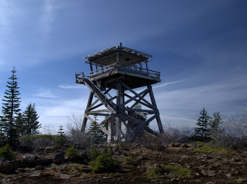 The old lookout atop Abbott Butte