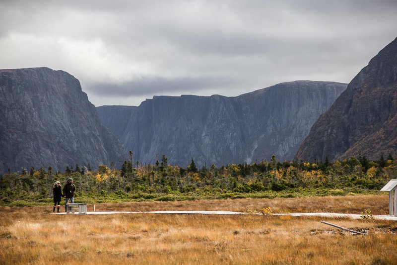 Looking east up the Western Brook Pond fjord