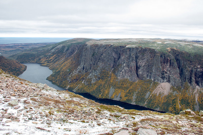 Ten Mile Pond viewed from Gros Morne Mountain