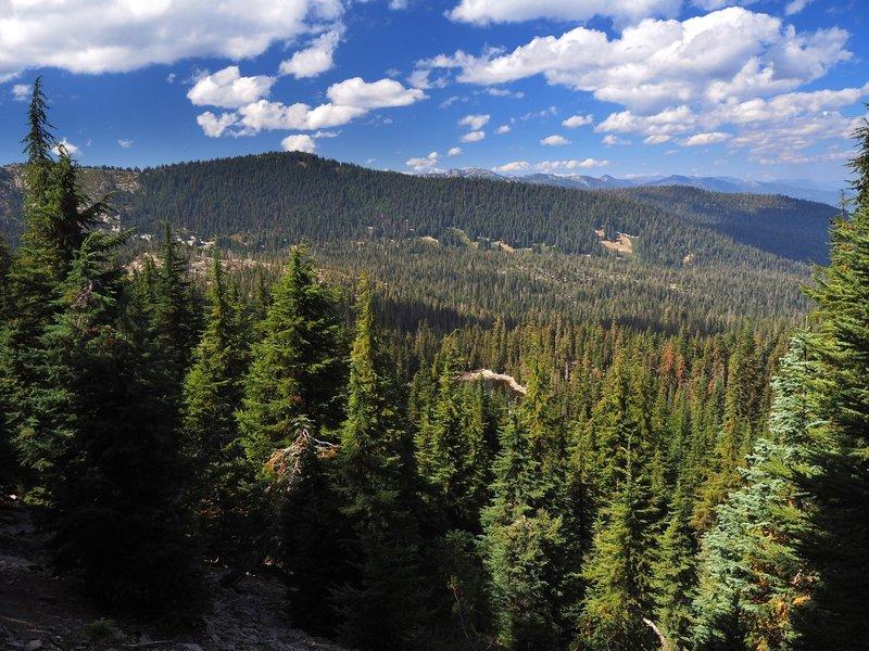 Mavis Lake from high on the Fox Creek Ridge Trail