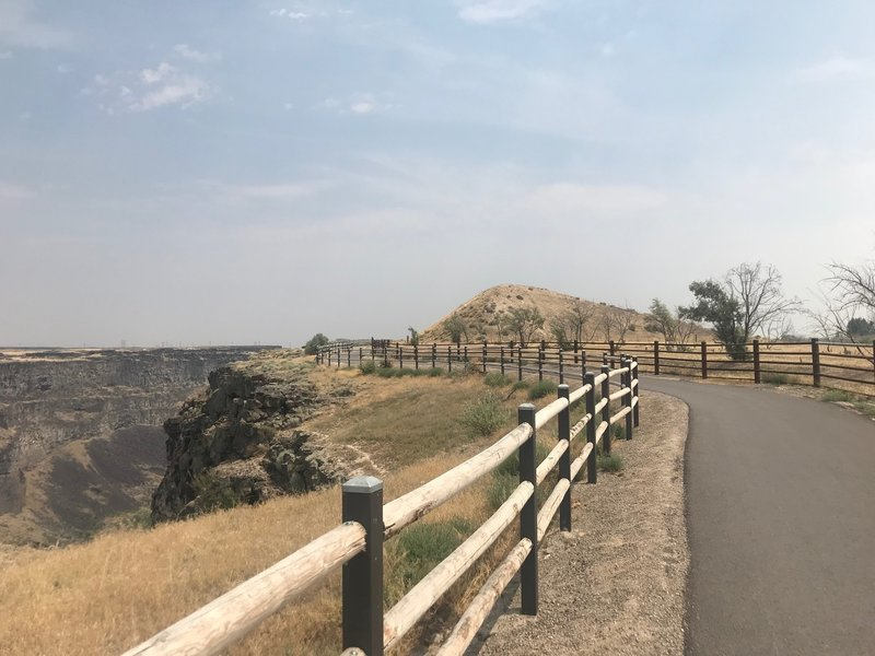 The remains of the ramp Evel Knievel used to rocket over the Snake River