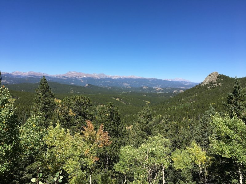 Some of the most panoramic views of the Continental Divide are east of Panorama Point.