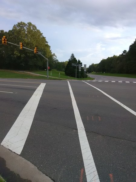 Trail crossing at HWY 54 and TW Alexander