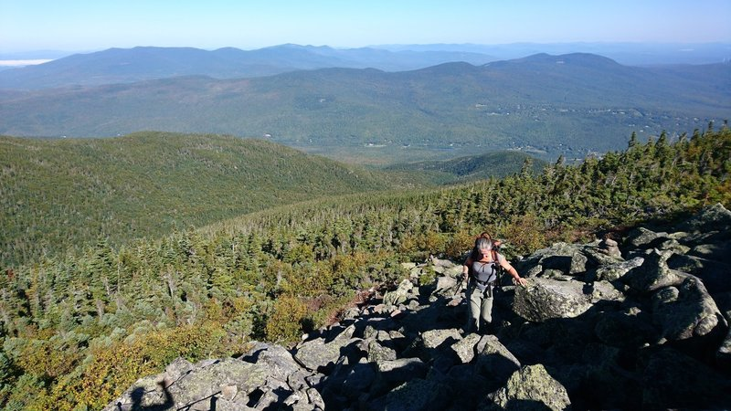 The boulder section above treeline leading to Mt Madison summit