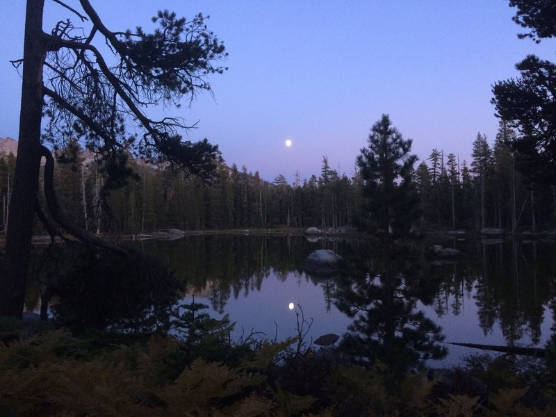Moonrise at Beauty Lake