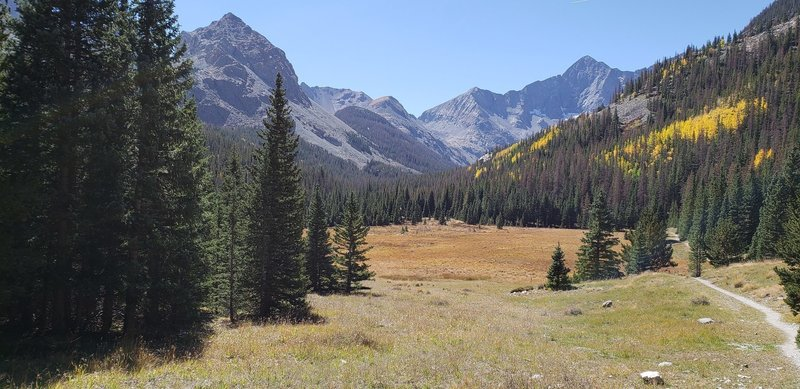View near the beginning of the Huerfano Trail
