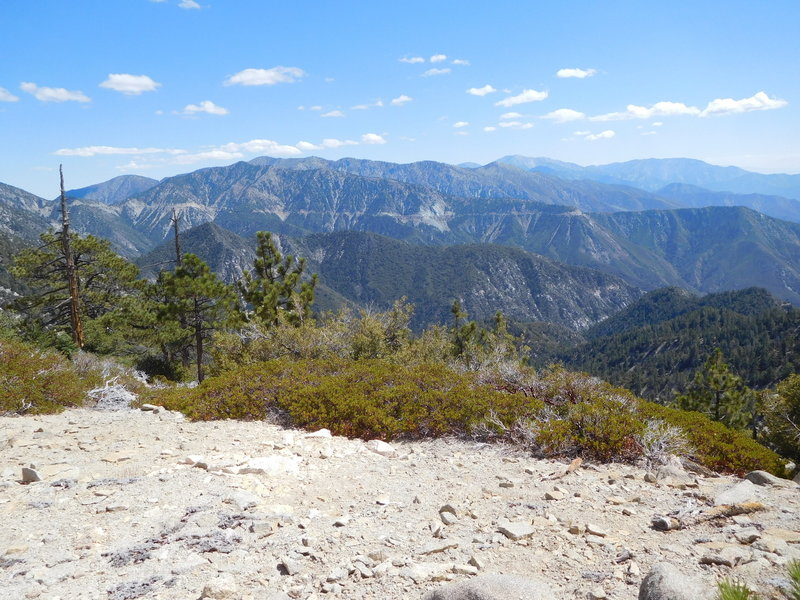 View looking east at Mt. Baldy from Twin Peaks Saddle heliport.