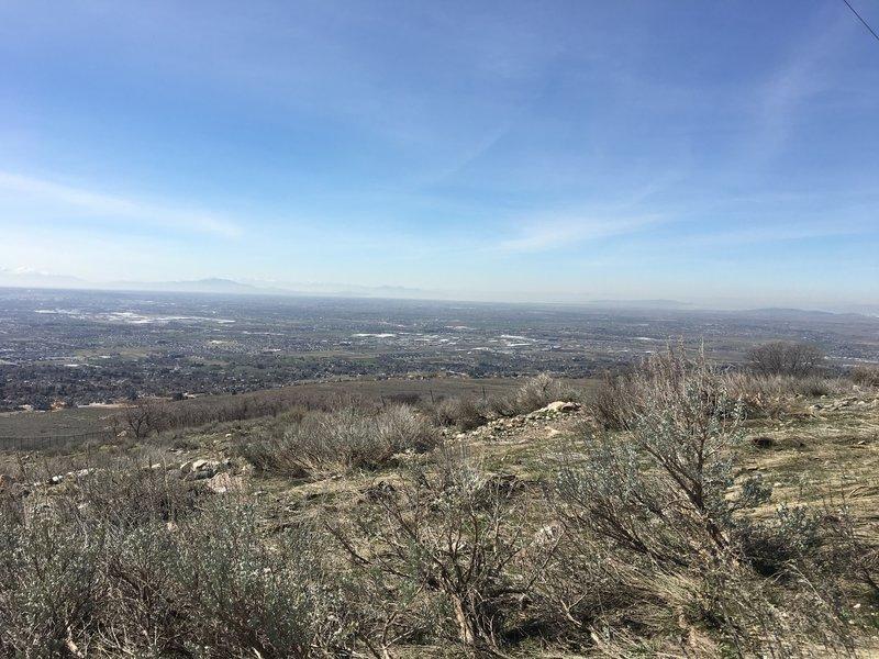 View toward the Great Salt Lake.