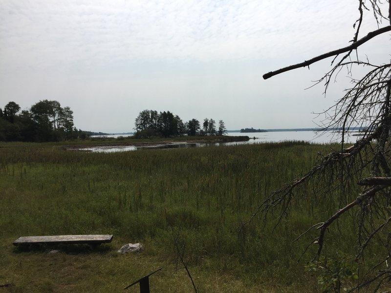 Bench overlook near Black Bay