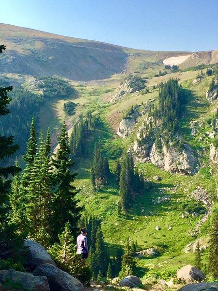 Heading towards King Lake after camping at Betty Lake 08/07/18
