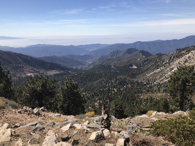Mt. Islip Ridge looking south towards Azusa Canyon