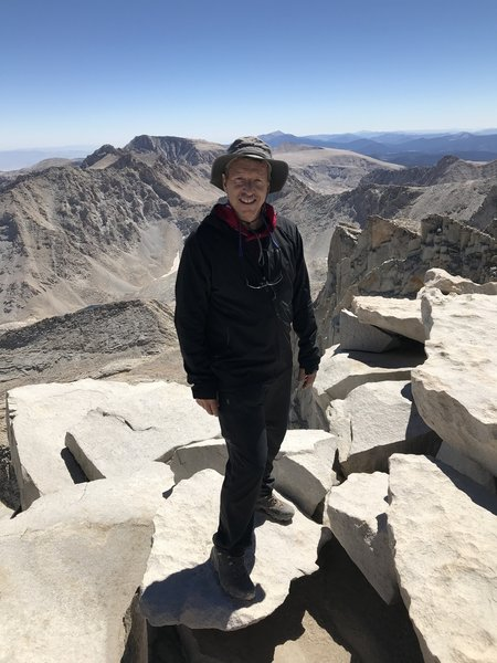 9/11/2018  @Whitney Summit perfect cloudless day, no wind!