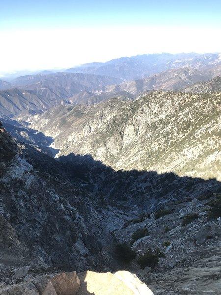 09/05/2018  Baldy via Bear Canyon Trail.  On the ridge looking west at rugged terrain.