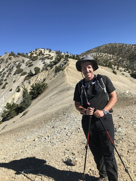 09/05/11 Mt. Baldy Trail via Bear Canyon.  On the ridge you are completely exposed. Nice views in all directions