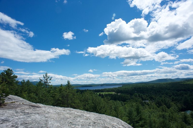 The views from Jockey Cap are sweeping and stunning.  Here is looking toward Lovewell Pond in Fryeburg, ME.