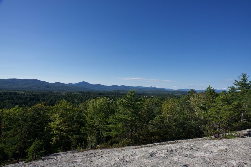 Looking out toward the White Mountains.  The views from the top are amazing.