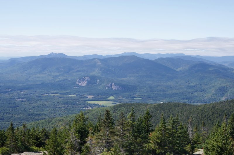 Looking back toward the mountains in New Hampshire.
