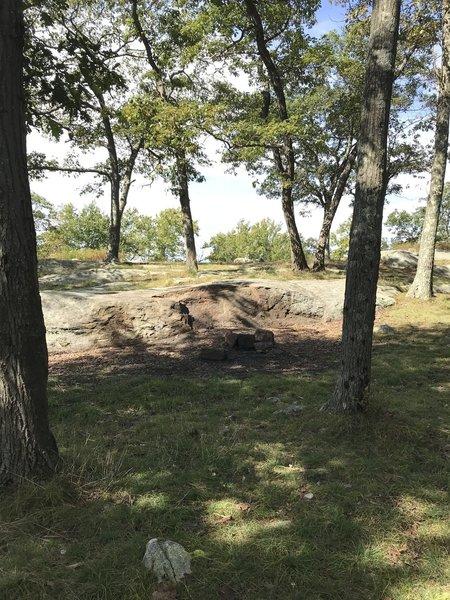Fire pit not far from the Stockbridge shelter