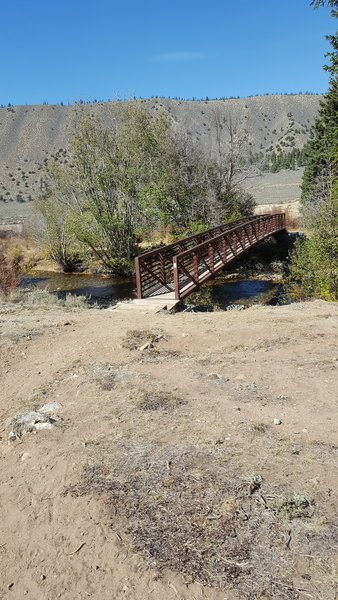 crossing bridge into Clear Creek campground